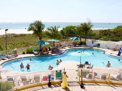 Photo for BEACH FAMILY ESCAPE! 2BR/2BA WITH GULF VIEWS, POOL, PARKING, HOT TUB