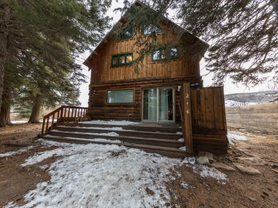 Photo for Rustic riverfront Cabin 3br 2ba. Very private. great fishing spot 7 mi from CB