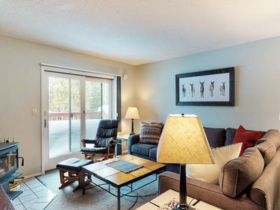 Photo for Comfortable and budget-friendly condo across from Bear Back Poma Lift!
