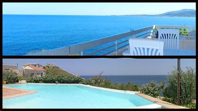Photo for CALVI CENTER, superb view, swimming pool, terrace, 50m from the sea