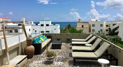 Photo for Condo AQUA 5 , 2 BR confortable condo just Steps from the beach PUERTO MORELOS