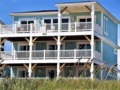 Photo for Beautiful, 7 Bdrm/4.5 Bath Oceanfront Home with Private POOL & Elevator-Sleeps 16
