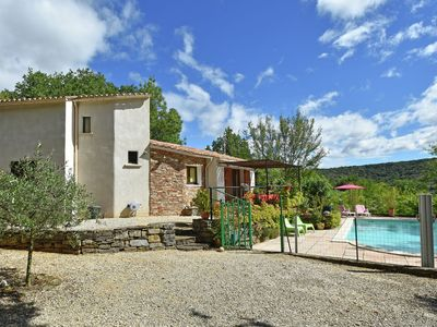 Photo for Stylish holiday home near St. Brès, with private swimming pool and stunning view