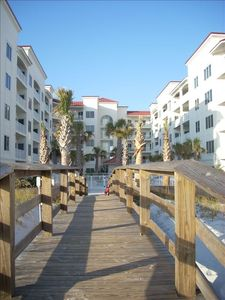 Boardwalk to and from the beach