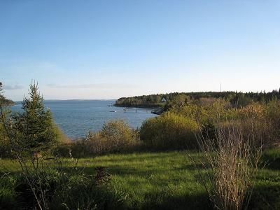 The cottage overlooks beautiful Goose Cove
