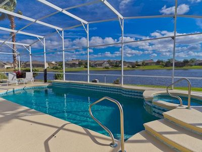 Photo for 4BR, 3 Bath Pool Home With Lake Views In Luxury Gated Community