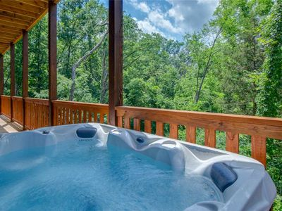 Photo for Splash of Moonshine, 2 Bedrooms, Private Indoor Pool, Hot Tub, Pet Friendly, Sleeps 8
