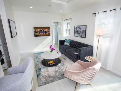 Photo for New West Elm Furnished Tinseltown suite near Warner Bros/ Universal Studios
