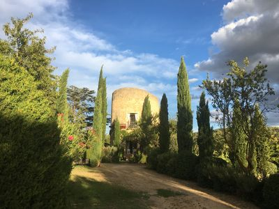 Photo for Tower from the 16th century. Century in Lourmarin with pool