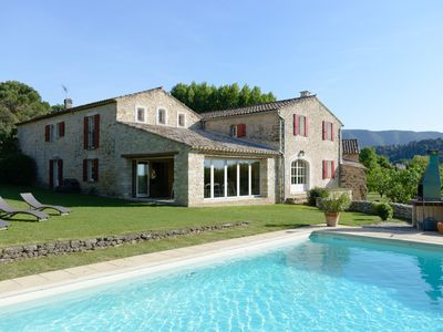 Photo for Ménerbes - Old farmhouse completely renovated. Haven of peace and greenery