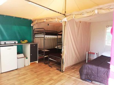 Photo for Camping Audinac Les Bains *** - Bungalow Toilé 3 Rooms 5 Persons