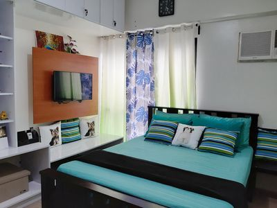 Photo for Cozy and Homey Place at Gerzon's Flat (Vinia Residences QC)