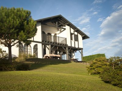 Photo for Bidart. House with 180 ° views of mountains, beaches and golf at 1KM