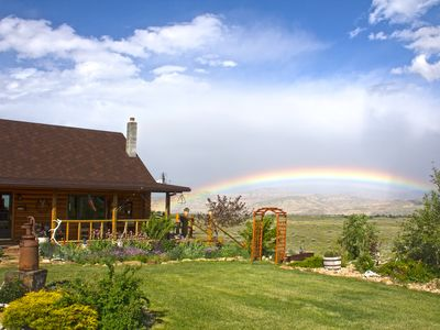 Photo for Cozy log house located 60 mile from east entrance of Yellowstone National Park