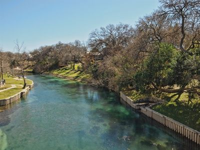 Photo for Relaxing 3 br condo that boasts 2 balconies overlooking the Comal River!