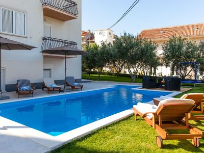 Photo for Fantastic apartment with pool only 100m from the sandy beach with airco and wifi