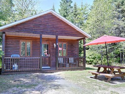 Photo for Beautiful cottage in Val-David - Log house #1
