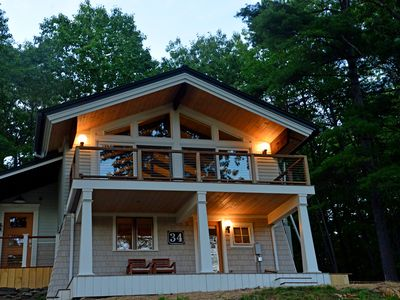 Photo for MID CENTURY MODERN  BLACK MOUNTAIN CHALET; STUNNING VIEWS/ FIRE PIT/ HOT TUB