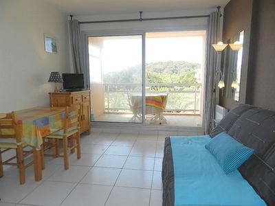 Photo for THE FAVIERE - Studio.  COQUET. DIRECT ACCESS BEACH with swimming pool and tennis.
