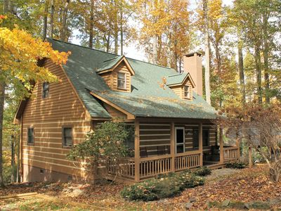 Photo for Blowing Rock Log Cabin near Tweetsie RR. Available for ASU Games & Fall Foliage