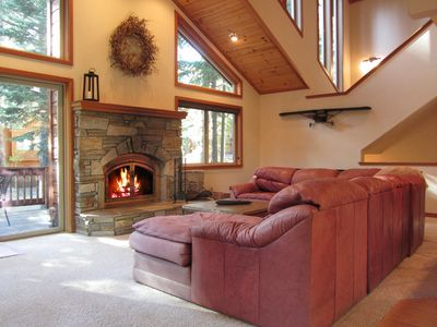 Photo for FAMILY FUN - Tahoe Donner, sleeps 8 with games galore! HOA pools, hot tubs, gym