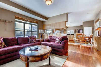 Spacious main floor living, kitchen, dining - Park CIty Lodging - 1025 Park Ave - Great place for entertaining