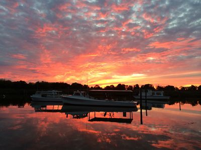 Photo for Perfect getaway, waterfront townhouse on Chesepeake Bay, Kent Island, Maryland