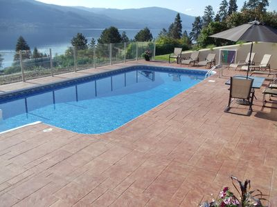 Private pool-not shared.  BBQ, small fridge and plastic dishes provided.