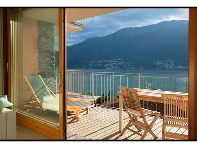 Photo for Fantastic apartment with a wonderful panoramic view of Lake Como