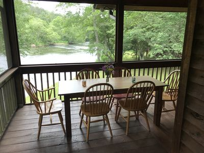 Photo for The perfect vacation cabin for families.  Directly on the river.
