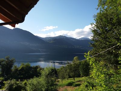 Photo for LAKE ORTA - LAKE VIEW APARTMENT, PRIVATE BEACH AND BALCONIES (FIRST FLOOR)