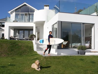Photo for Stunning 5* Gold Award (Vis.Eng) Beach House, Direct Beach Access, amazing view