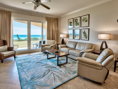 Photo for Gulf Front Luxury Unit with Gulf Views! Private Patio, Community Grills/Pools