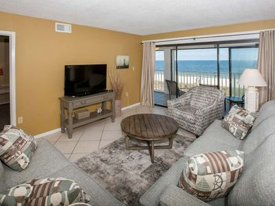 Gulf-front with Enclosed Balcony | Outdoor pool, BBQ, Wifi | Free Golf, Fishing, Waterpark tickets
