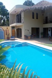 Photo for Private villa with pool, tranquil mango orchard setting, 2km from melaque beach.
