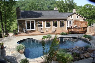 View of the rear of B&B and poolside
