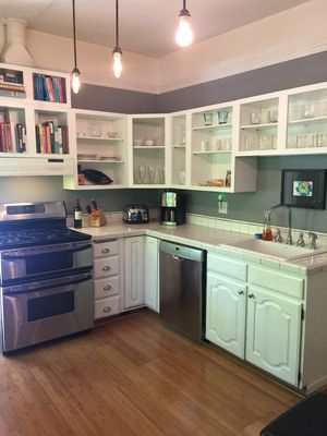 Kitchen stocked with everything you need to prepare breakfast, lunch or dinner