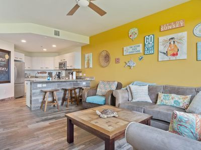 Photo for Walk to beach, & shops. Ocean View Townhome AC included & Free WIFI