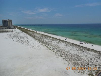 Looking East from Navarre Towers. 1/4 mile of pure white sand