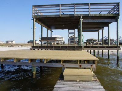 Photo for AMAZING VIEWS/BEACHFRONT! DOCK, DOGS OK, BOTH GULF AND BAY PRIVATE BEACH!