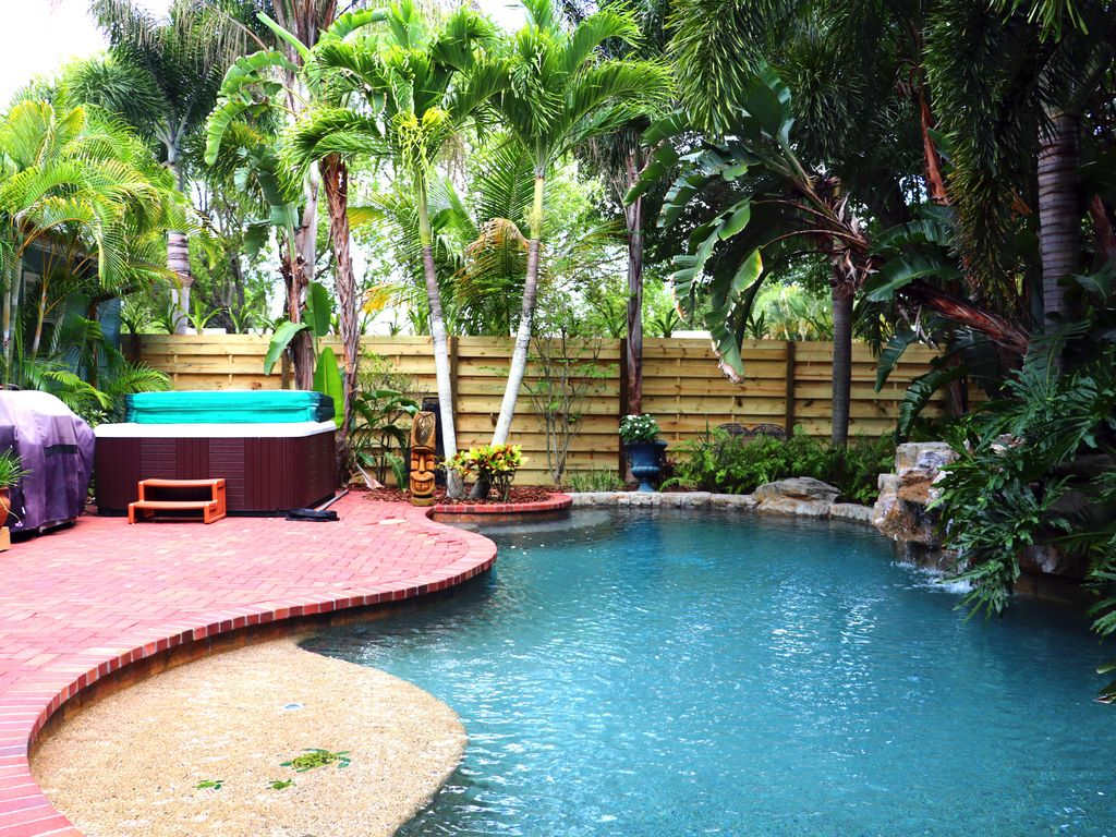 tropical bungalow with heated oasis pool h vrbo