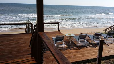 Photo for Private Beachfront Home -Right on no-driving Beach-newly remodeled-near Cape Can