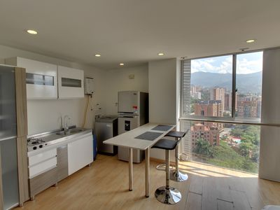 Photo for confortable estudio con vistas y WiFi- comfortable studio with views and WiFi