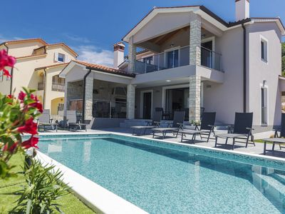 Photo for NEW! Luxurious & stylish Villa Fjolla for 8 with private pool & BBQ