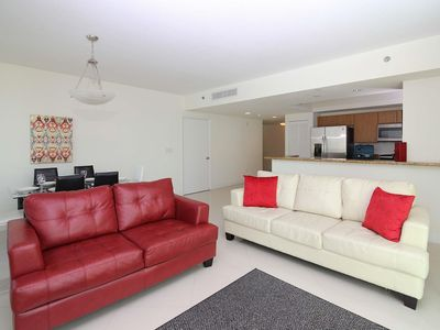 Photo for Luxury Apartment in Brickell! Business Center, Tennis Court, and Pool! Free WiFi