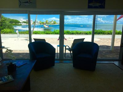 Photo for WOW!   PRIVATE POOL, OCEAN FRONT,  & DOCK Sister house next-door VRBO#1034656