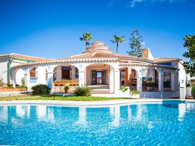 Photo for Stunning private villa for 6 guests with hot tub, A/C, WIFI, private pool, TV and balcony