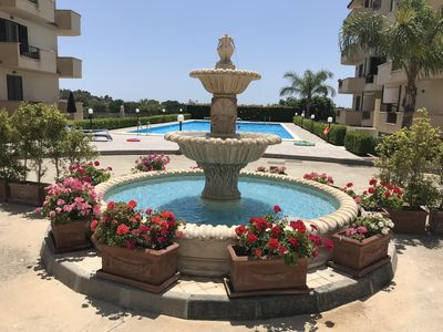 Photo for Beautiful NEW apartment with pool close to the village, sea only 5 minutes away,