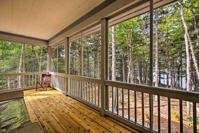 This 2-bedroom, 1-bath, pet friendly home boasts a wraparound porch and 5 acres.