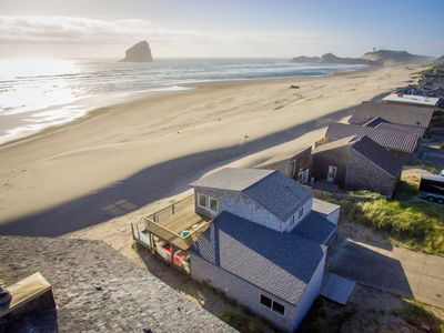 Photo for Wave Catcher #145 - Oceanfront home in Pacific City.. back yard is the sand!